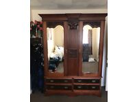 Antique wardrobe In very good condition and very old