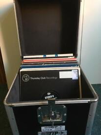 52 breakbeat vinyl in metal flightcase