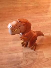 Walking and roaring dinosaur