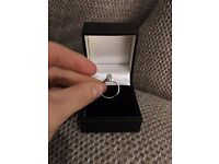Brand New Single Diamond & White Gold Engagement Ring