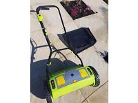 Rechargeable lawnmower. As new now not required due to paving now been laid.