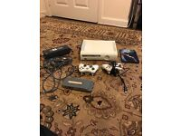 Xbox 360 with 2 controllers 1 game all wires and one spare hard drive all work you can look in pic