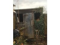 Free garden shed. Needs to go urgently. Glass for windows included.