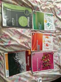 Various study textbooks