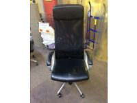 Black High Back Leather Office Chairs