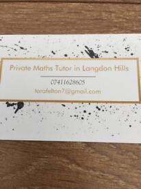 Maths tutor