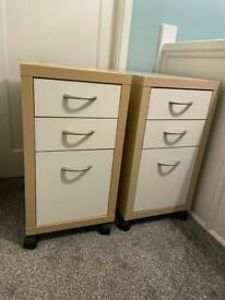 2 IKEA draw units