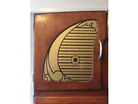 Art Deco Cabinet. Probably originally used as a pantry with glass cabinet and fold down worktop