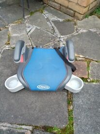 Blue Graco car booster seat