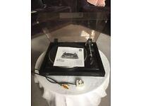 Vinyl hifi separates system. Amplifier, turntable, speakers and headphones