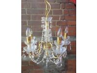 A pair of high quality Bohemian Crystal Chandeliers Preciosa make