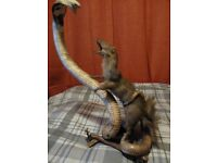 Taxidermy Antique Cobra and Mongoose