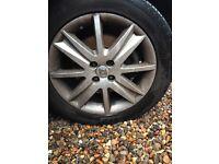 4x Renault Nervasport Alloy Wheels - Complete with Locking Nuts & Tyres
