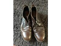 Men's brown leather boots size 11