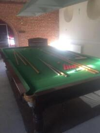 Full size, slate bed English made snooker table