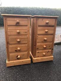 Solid Pine Tall boys - 100 x 45 x 40cm