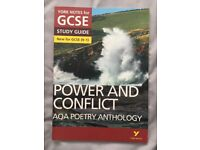 NEW York Notes GCSE Power and Conflict Poetry Anthology English Literature Text Book (1-9)