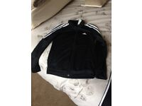 Ladies black Adidas tracksuit small 8-10