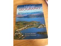 Higher Geography Textbook
