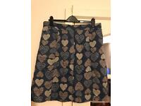 Attractive heart design White Stuff ladies fully lined skirt
