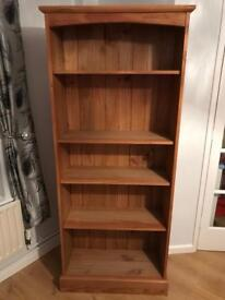 Solid Pine Bookshelf Absolutely Beautiful Excellent Condition Smoke And Pet Free House