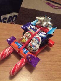 Santa sleighs and sweet cones