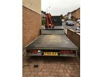 Transit hiab crane with trailer for hire