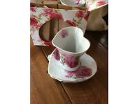 New Floral Ceramic Tea Set For Two