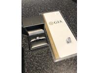 Diamond ring 1.41 carat gia certified used