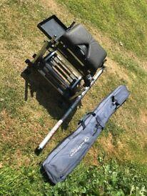 13m colmic Pole / milo Seatbox / Garbolino rod bag