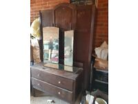 Retro 1950 / 60s Wardrobe and matching dressing table