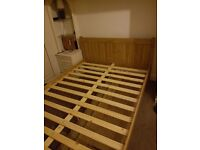 For sale BRAND NEW pine wooden 4'6 double bed frame £100 ONO