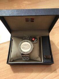 Chunky metal watch £35