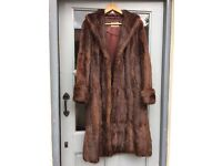 Vintage Canadian full length fur coat in immaculate condition