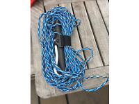 Waterski tow line with handle