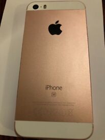 iPhone SE rose gold, new, locked with virgin, with lovely yellow case