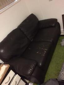 Strong Black sofa 175cmx85cm two seats for just £25