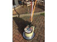 Industrial floor scrubber, polisher