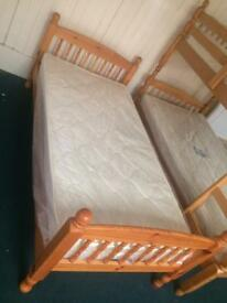 Single beds in white and pine sale