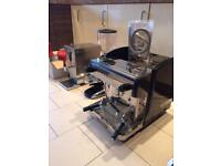 Commercial coffee machine , grinder and water boiler