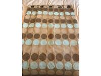 """Next, fully lined eyelet curtains, 66"""" x 90"""""""
