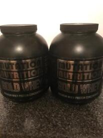 Two big tubs of whey protein powder 2x2.25kgs