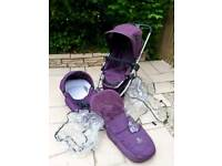 iCandy Cherry Travel System: Pushchair & Carrycot - Purple