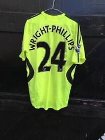 Shaun Wright-Phillips Chelsea shirt , worn playing against Man City