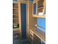 Wardrobe with complete bedroom cuboard s and new single mattress and base