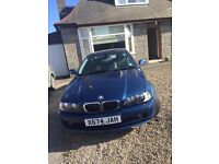 bmw 3 series 2 door coupe, lady owner, price reduced to £1295