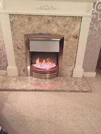 Complete fire place unit