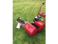 ATCO Suffolk Punch 14s Petrol Cylinder Lawnmower with Scarifier cassette