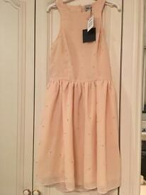 Brand new with tags size 10 Asos peach jewel dress