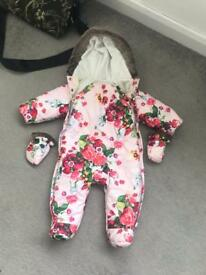 Ted Baker 3-6 month snow suit